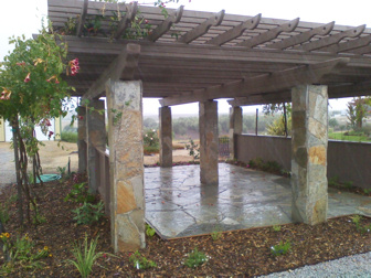 Timber and Stone Arbor