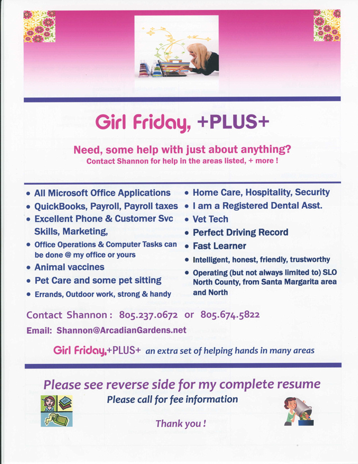 Girl Friday Plus Announcement